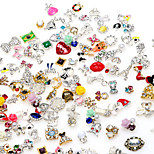 20pcs 3D Alloy Nail Sticker Decorations DIY Charm Nail Jewelry Accessories Random Color