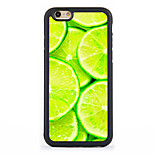Lemon  Pattern Design Metal CoatedTPU Frame Back Case for iPhone 7 7 Plus 6s 6 Plus SE 5s 5c 5 4s 4