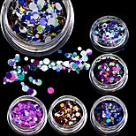 STZ 3g New 2017 Mni Round Thin Glitter Slice Paillette Nail Art Sticker Tips Fashion 3D 1-3mm Laser Mixed Sparkly P8-14