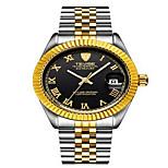 Tevise Men's Women's Couple's Fashion Watch Mechanical Watch Calendar Water Resistant / Water Proof Luminous Quartz Stainless Steel Band