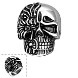 Men Punk Skull Shape Fashion Wind Restoring Ancient Ways of Titanium Steel Ring Halloween Gifts