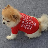 Dog Shirt / T-Shirt Red Dog Clothes Winter / Spring/Fall Snowflake Cute / Christmas