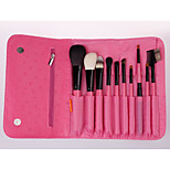 10 Makeup Brushes Set Synthetic Hair / Others Full Coverage / Portable Wood Face / Eye / Lip ZOREYA