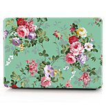 For MacBook Pro 13 15 Case Cover Polycarbonate Material Flower