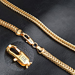 Classic Men's 18k Gold Fine 6MM Width 20inch Chain Necklace for DIY Necklace Jewelry