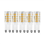 5Pcs  G9 51Led Smd2835 5w  850Lm AC220  White Warm White Small Ceramic Corn Lamp White