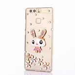 For Huawei P9 Plus Lite P8 Rhinestone Case Back Cover Case Rabbit Hard PC Honor 8 7 6 6Plus 5C 5X 4X 4C 4A Mate 9 8 7