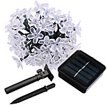 Jiawen Waterproof IP65 6.5m 50leds Blossom Flower Solar Powered LED Light String