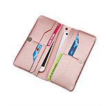 For iphone Samsung Genuine Leather Business Soft Thin Cash Clutch Bag Card Wallet Purse apply to Other cell phone 5.5 inch below