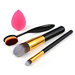 3 x Makeup BrushPowder Blush Foundation Brush Sponge Puff  Contour Brushes Pincel Maquiagem