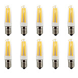 3W E14 LED Dimmable  AC110/AC220V  Bi-pin Lights 4 COB 380-400 lm Warm White/ Cool White  Waterproof 10 pcs