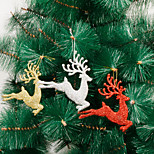 3Pcs Christmas Decorations Little Deer Fly Deer Christmas Tree Ornaments The Onion Powder Deer 13*13Cm Colour Randam