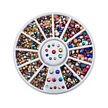 1pcs Manicure Colorful Color 2mm 3mm Jewelry Manicure Turntable