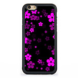 Black flowers  Pattern Design Metal CoatedTPU Frame Back Case for iPhone 7 7 Plus 6s 6 Plus SE 5s 5c 5 4s 4