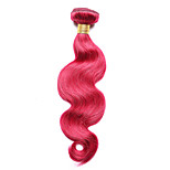 1PC TRES JOLIE Body Wave Human Hair 10-14Inch Burgundy Human Hair Weaves