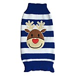 Cat Dog Sweater Dog Clothes Winter Spring/Fall Reindeer Cute Christmas Red Blue White/Black