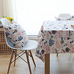 Square Patterned / Floral Table Cloth , Linen Material Hotel Dining Table / Table Decoration