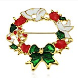 color christmas wreath Brooch
