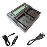 ismartdigi VBN130 260 LCD Dual зарядное устройство с кабелем для зарядки в автомобиле для Panasonic VBN130 260 Аккумуляторы камеры