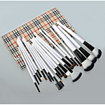 20 Makeup Brushes Set Goat Hair Full Coverage / Portable Wood Face / Eye / Lip Others