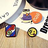 1 Set Cute Hello Smile Dog Pin Brooch Set Fashion Jewelry for Men/Women(Random Style)