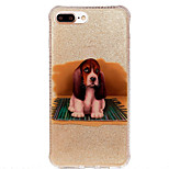 For Double IMD Case Back Cover Case Puppy pattern Soft TPU Apple iPhone 7 7 Plus 6s 6 Plus SE 5s 5