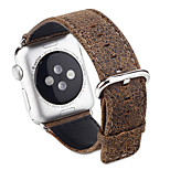 Crack Leopard Grain Distressed Watch Band Handmade Genuine Leather Strap for Apple Watch1/2
