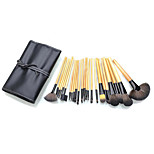 24 Makeup Brushes Set Synthetic Hair Full Coverage / Portable Wood Face / Eye / Lip Others