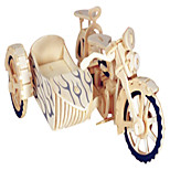 Jigsaw Puzzles Wooden Puzzles Building Blocks DIY Toys Three Rounds of Motorcycle 1 Wood Ivory Model & Building Toy
