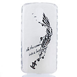 For Motorola Moto G4 Plus Case Cover Feathers Pattern Back Cover Soft TPU G4