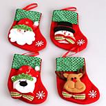 2Pcs The New Small Sequins Christmas Socks Christmas Stockings Christmas Gift Bags Candy Bag Of Christmas Tree Decorations  Random Pattern