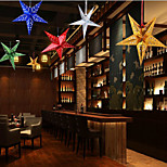 The pentagon stars hang act the role of the window Christmas holiday decorations Color random 30cm