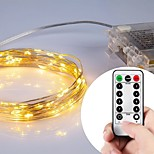 10m100lights 3AA 8 Function battery operated Led String Lights Christms Decoration Lights
