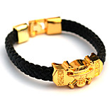 Inspired by One Piece Cosplay Accessories Bracelet Golden Alloy / PU Leather