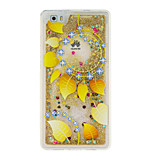 For Huawei P9 P8 Lite Cover Case Golden Leaves Pattern Glitter Powder Small Fresh Quicksand TPU Material Phone Case