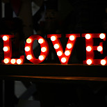 Warm White 20-LED Love Word Night Light