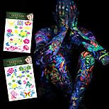 4 Tattoo Stickers Jewelry Series / Flower Series / Totem Series / Others / Cartoon Series / Romantic SeriesNon Toxic / Pattern /