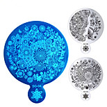 1pcs Flowers Butterfly Big Nail Art Stamping Plates Mirror Shape