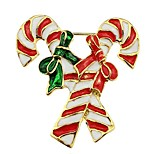 Sweet Christmas Candy Cane Brooch