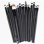 20 Makeup Brushes Set Nylon Full Coverage / Portable Wood Face / Eye / Lip Others