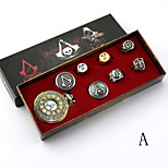 Video Game Stabber Style  Sign Alloy  Conner Silver Alloy Clock/Watch 8PcS