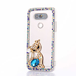 For LG G5 G4 K10 Rhinestone Case Back Cover Case Fox Hard PC For LG K7 LG K4 LG G3 LG V10