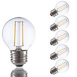 2W E26/E27 Ampoules à Filament LED G16.5 2 COB 200 lm Blanc Chaud Gradable V 6 pièces