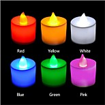 3W LED Kerzen-Glühbirnen T 1 Dip - Leuchtdiode 300 lm Rot / Blau / Gelb / Grün / Rosa Dekorativ AC 85-265 V 24 Stück