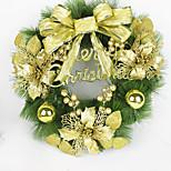 Grinalda do Natal agulhas 2 cores de pinho decoração do Natal por 40 centímetros casa partido diâmetro navidad novos suprimentos ano