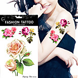 5Pcs  Big Small Rose Flower Temporary Tattoos Women's DIY Tattoo Stickers Fake Color Waterproof Body Art Arm Leg Hand