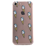 For iPhone 7 7 Plus 6S 6 Plus SE 5S Case Cover Ice Cream Pattern High Permeability Painting TPU Material Phone Case