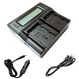 ismartdigi DU21 LCD Dual зарядное устройство с кабелем для зарядки в автомобиле для Panasonic gs78 gs108 gs27 gs28 GS500 DU14 DU21 камеры