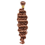 1PC TRES JOLIE Deep Wave 10-18Inch Color #30 Medium Auburn Human Hair Weaves