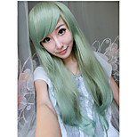 High Quality Light Green Color 70cm Long Straight Synthetic Wigs